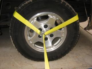 Car Tie Down Straps Wheel Straps Axle Straps Side Mount